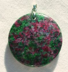 Metaphysical Gifts, Cards, Wrap and Crystals | Life Is A Gift Shop - Ruby Fuschite Round Pendant blocks criticism, judgment and negativity: excellent fo Virgo, $26.00 (http://lifeisagiftshop.com/ruby-fuschite-round-pendant-blocks-criticism-judgment-and-negativity-excellent-fo-virgo/)