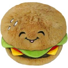 "It's a 12"" Squishable Cheeseburger! Made in collaboration with Jus #plush #new"