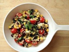 Quinoa and Black Bean Salad with Cilantro-Lime Dressing