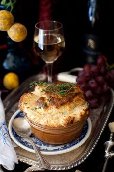 French Salmon Soufflé with Fresh Dill and Gruyere Cheese