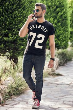 H&M T Shirt, H&M Jean, Converse Shoes #fashion #mensfashion #menswear #mensstyle #style #outfit #ootd