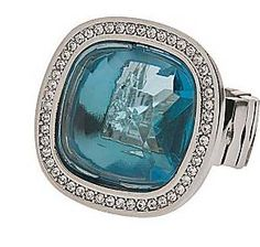 Love this faceted stone ring by Lane Bryant