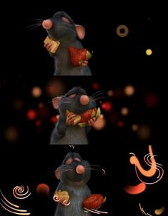 ratatouille- i could watch this 15 times in a row and never get tired of it This rat feels about food the same way I do it's HEAVEN :) Disney Pixar, Arte Disney, Disney Films, Disney Animation, Disney Magic, Disney Art, Walt Disney World, Ratatouille Disney, Disney Dream