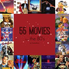 Take a trip down memory lane with this list of 55 movies from the 80's that will rock your movie night. #entertainment #movies #movienight