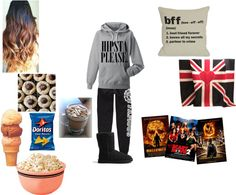 """""""Sleepover with friends"""" by hazzastyles19 ❤ liked on Polyvore"""