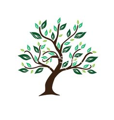 Abstract tree vector 245228 - by Chantall on VectorStock®