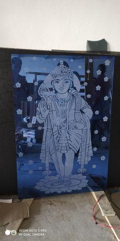 Glass Etching Designs, Etched Glass Door, Pooja Room Design, Pooja Rooms, Corner Designs, Glass Design, Mirror, Artwork, Work Of Art