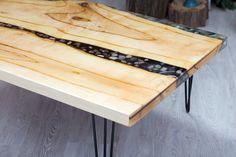 Wood and pebbles table,Original Resin Art, Coffee table,Table top, Wall Art, Epoxy Resin table, Resin art,Modern Art by gkartbox on Etsy