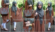 Brown cape by hijab is my diamond