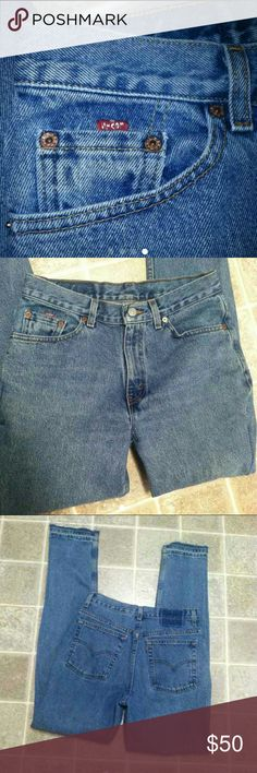 Vintage Levis Re-Done These started out 512 Slimmed the legs and leg opening these are a great fit can distresses for 15$ fee before ship  Length 34 Waist across 15in Hips 19 Front rise 11 Back Rise 14.5 Leg opening 6.5  Re-Done By Me Levi's Jeans Skinny