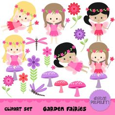 Garden Fairies Clip Art