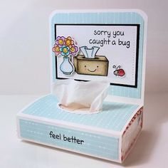 Splitcoaststampers - Wednesday Tutorial - Pocket Tissue Holder