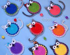 Resultado de imagem para garfield crochet cute appliques