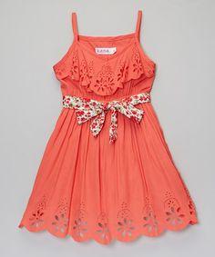 http://www.zulily.com/invite/vhanson979 Look what I found on #zulily! Coral Maya Dress - Toddler & Girls #zulilyfinds