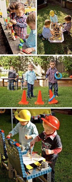 We did a construction party for Grant's 1st birthday, so awesome! CAUTION! Construction Party Straight Ahead! | Easy peasy party games and ideas for keeping those little builders entertained at the birthday party.: