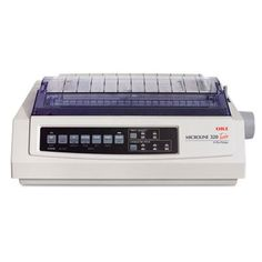 Microline 320 Turbo Serial 9-Pin Dot Matrix Printer, Sold as 2 Each. Dot matrix printer features a narrow carriage, 435 cps print speed and 128 kB RAM. Rugged printhead design keeps print images sharp for a 200-million character life. Efficient motor reduces friction, heat build-up and wear. Long-lasting rack and pinion drive system ensures print quality. Impact-resistant chassis protects entire mechanism.