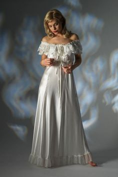 Nightgown Silk Lingerie   Long Satin Nightdress 3271 - Luxury Sleepwear - Jane Woolrich Design