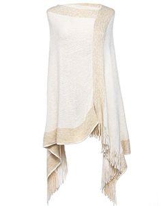 SherryDC Women's Colorblock Knit Tassel Asymmetric Hem Travel Wrap Poncho Sweater Pullover Shawl