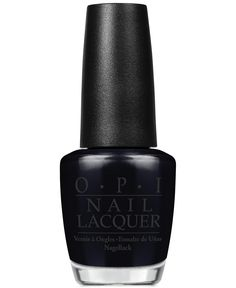 Who says you can't rock a dark mani in the Springtime? Black nails are so chic and will definitely stand out. OPI Nail Lacquer in Black Onyx is the blackest black there is.
