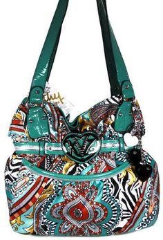 NWT Kathy Van Zeeland Handbag Purse Bag Belt It Out Small Shopper Paisley  Zebra Expensive Purses 4766576bf30b3