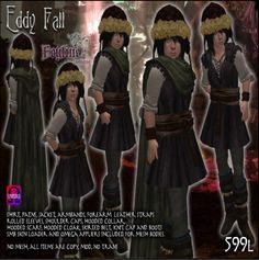 Feyline Fashions Eddy for Child Avatar ~ Quest Gift Skirt Belt, Cloak, Avatar, Hoods, Child, Knitting, Gift, Sleeves, Leather