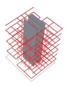 Cultural Center in Guadalajara Competition Entry,structural principle diagram