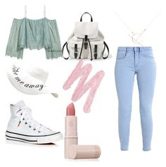 """""""day in the city"""" by izzyfifteen on Polyvore featuring H&M, Converse, A Weathered Penny, Steve Madden, Lipstick Queen and Urban Decay"""