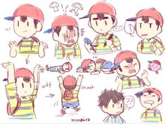The many faces of Ness.