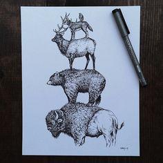 illustration by Sam Larson ; Steel Bison