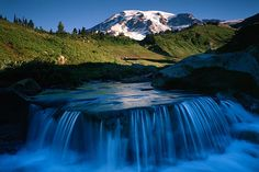 Cascade below Mt. Rainier, Mt. Rainier National Park, Washington # 1855