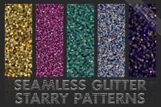 Starry glitter patterns. Seamless by GivArt on @creativemarket