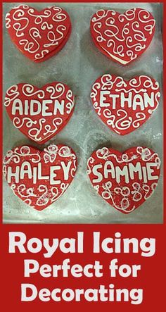 Valentines Cookies- perfect icing for decorating.