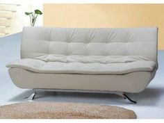 Sofa Bed With White Leather