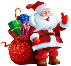 Santa Claus with Big Bag PNG Clipart