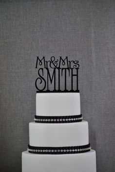 Custom Mr and Mrs Cake Topper in your by ChicagoFactoryDesign