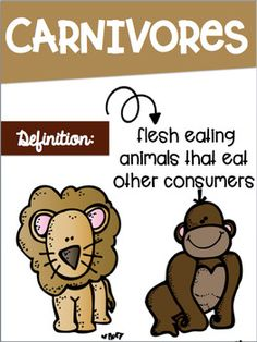Types of Consumers- Carnivore, Herbivore, Omnivore Posters Science Room Decor, Page Borders, Clip Art, Posters, Type, Postres, Banners, Poster, Movie Posters