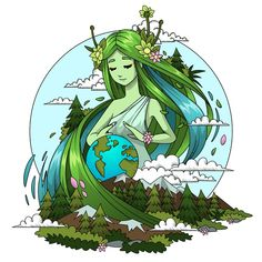 Hand drawn mother earth day concept | Free Vector #Freepik #freevector #hand #nature #world #hand-drawn Mother Earth Drawing, Save Earth Drawing, Nature Drawing, Earth Drawings, Drawing Competition, Save Nature, Poster Drawing, Nature Posters, Environmental Art