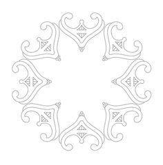tiara circle free hand embroidery pattern