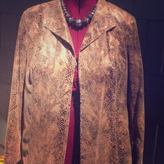 Faux Suede Snakeskin Blazer Colors are beautiful, soft jacket. Worn casually with jeans or dressy slacks. Looks great! Investments II Jackets & Coats Blazers