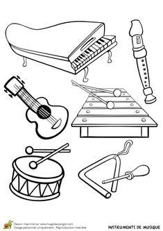 Coloriage d'instruments de musique