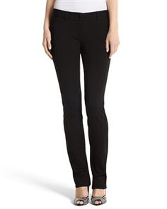 Structured skinny black pant.