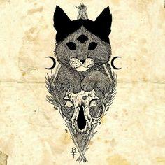 #illustration #occult #cat #blackmetal #kitten #drawing #penandink #shapefromhell #blackart #blackdraw #blackink #blackwork #sketch #sketchbook #skull #blackandwhite #dotwork #satancat