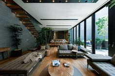 Pin on living & balcony Home Living Room, Interior Design Living Room, Living Spaces, Japanese Home Decor, Japanese House, Style At Home, Japan Interior, Interiores Design, Interior Architecture