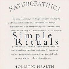 Naturopathica Simple Rituals