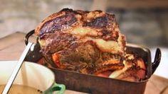 All-in-one rib roast with horseradish glaze