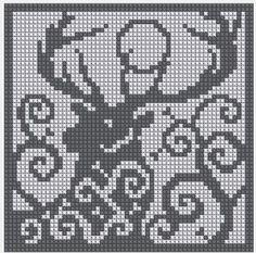 quiviut cross stitch chart - Google Search Pagan Cross Stitch, Cross Stitch Charts, Cross Stitch Designs, Cross Stitch Patterns, Crochet Cross, Crochet Chart, Filet Crochet, Knitting Charts, Knitting Stitches