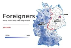 Germany divided - foreigners