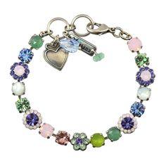 "Mariana California Dreaming Silver Plated Tennis Bracelet, 8"" 4173_3 M1067"