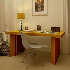 fluteofficecom lets you customise the colours of your cardboard desk like this from cardboard office furniture