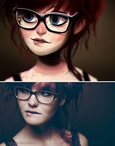 Художник превращает фото людей в забавные иллюстрации